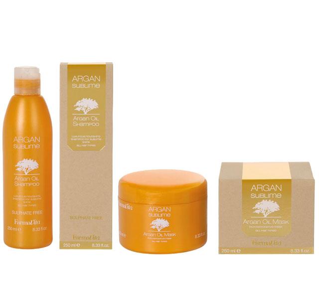 farmavita argan range of hair products
