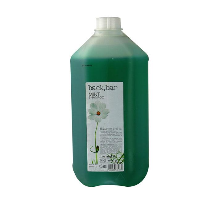 back bar mint shampoo 5 litres