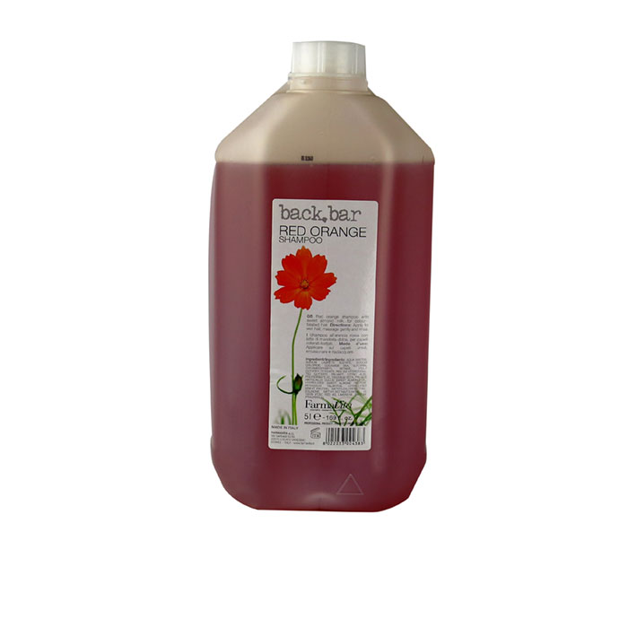 back bar red orange shampoo 5 litre